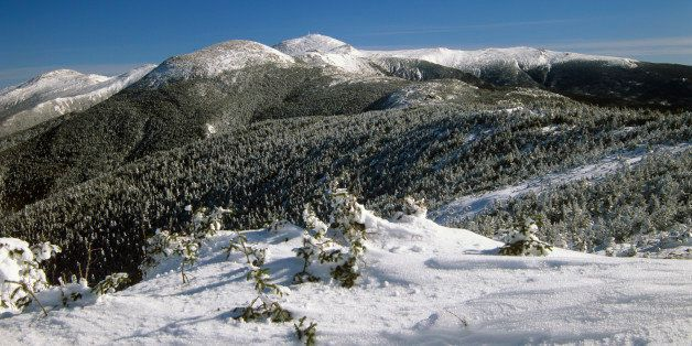 Scenic landscape of the Southern Presidential Range, part of the Appalachian Trail, located in the White Mountain National Fo