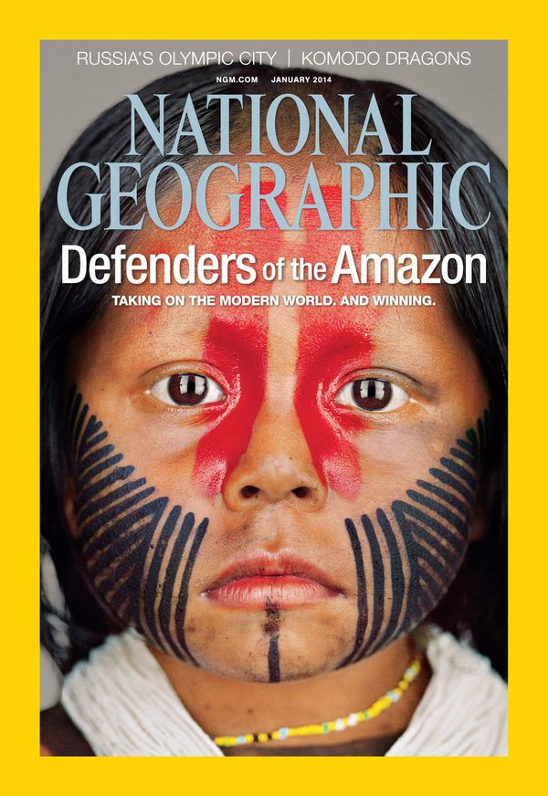 The cover of the January issue of National Geographic. Photo by National Geographic.