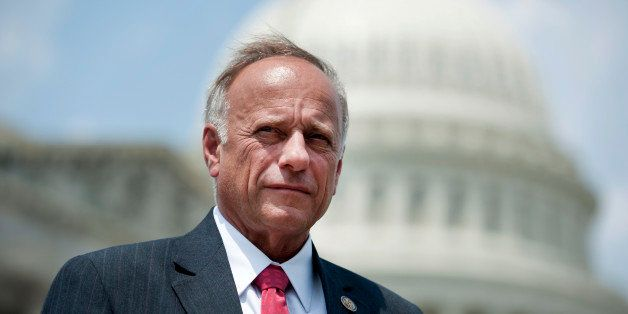 UNITED STATES - AUGUST 2: Rep. Steve King, R-Iowa, speaks at a press conference on the Official English Act. It would establi