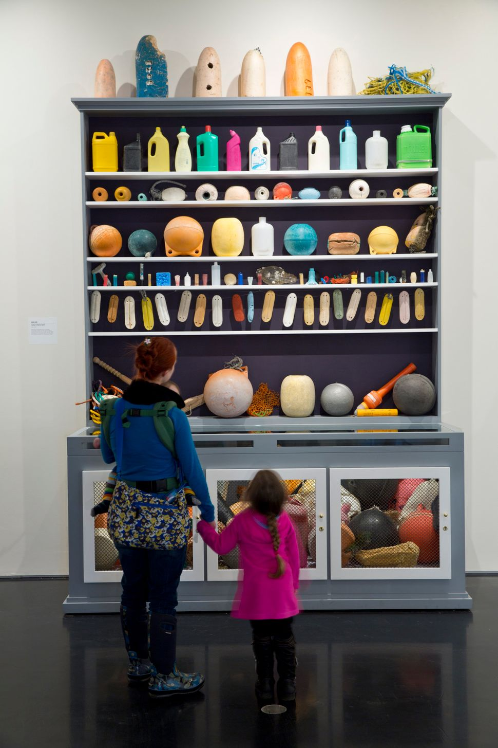"""Mark Dion, """"Cabinet of Marine Debris,"""" mixed media. As seen in """"Gyre: The Plastic Ocean"""" at the Anchorage Museum."""