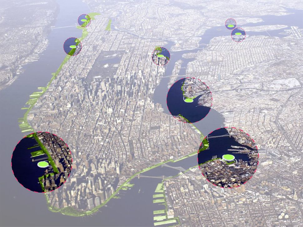 """<br>The Green Loop proposal envisions a network of 10 waterfront composting hubs in New York City, according to <a href=""""http"""