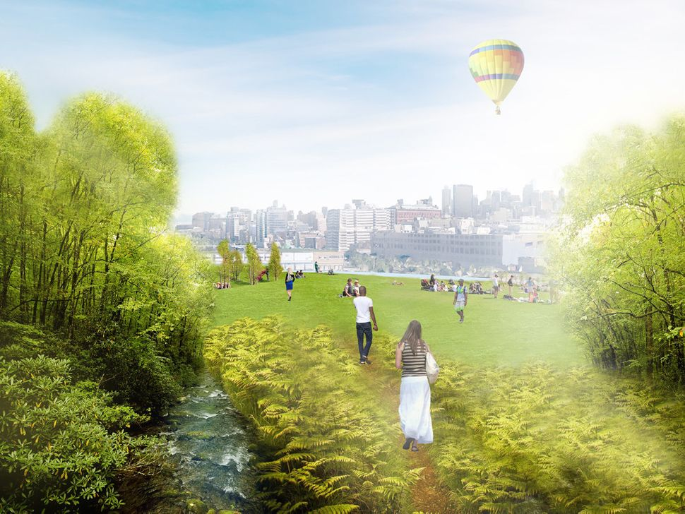 <br>Recreational parks would be set up atop Green Loop's street-level composting facilities. These public spaces could be use