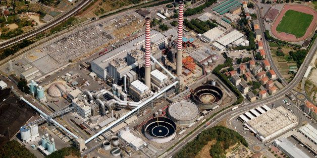 VADO LIGURE, ITALY - JULY 2006: An aerial image of Industrial Facility, Vado Ligure (Photo by Blom UK via Getty Images)