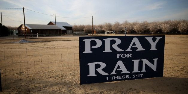 TURLOCK, CA - FEBRUARY 25:  A sign is posted near an almond farm on February 25, 2014 in Turlock, California.  As the Califor