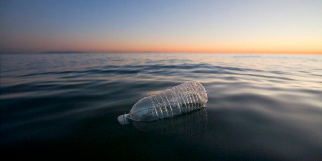 Plastic Water Bottle Floating in Pacific Ocean, Santa Monica, California, USA (Photo by Universal Images Group via Getty Imag