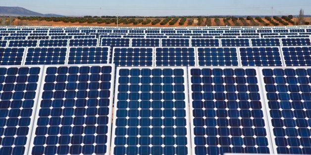 Solar panels stand at a solar power plant operated by Ingeneieria y Electricidad Rodriguez SL in Villanueva de los Infantes,