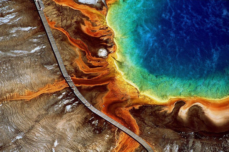 This mystical pool is actually the largest hot spring in the United States. Why does it look like a rainbow? A combination of