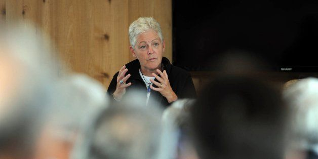 EPA administrator Gina McCarthy listens to people voice their concerns about the proposed Pebble Mine during a meeting in the