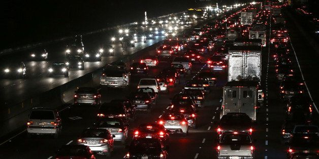 BERKELEY, CA - OCTOBER 21:  Traffic backs up on Interstate 80 as the Bay Area Rapid Transit (BART) strike snarls the Monday m