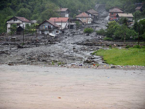 In Bosnia-Herzegovina, hundreds of homes were cut off or flooded after the Miljacka river, which runs through Sarajevo, broke