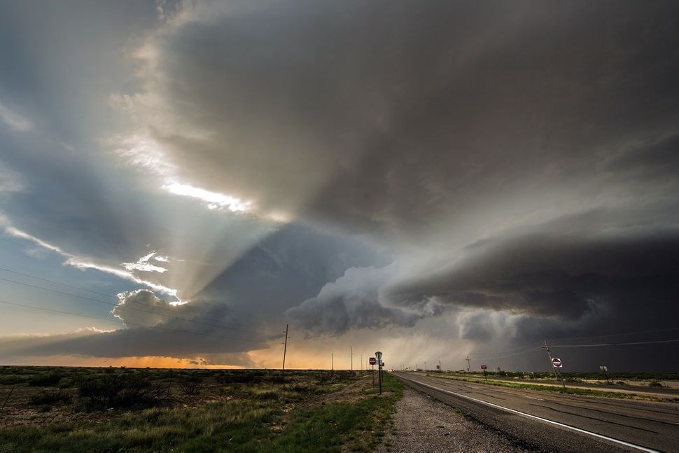 Miller captured this storm at sunset in Roswell, New Mexico.