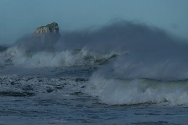 Arenales beach, in Liencres near Santander.