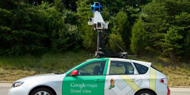 This June 28, 2012 photo shows a Google Street View vehicle as it collects imagery while driving down Interstate I-66 near Ce