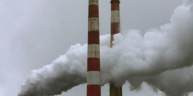 NEWBURG, MD - MAY 29:  Emissions spew out of a large stack at the coal fired Morgantown Generating Station, on May 29, 2014 i