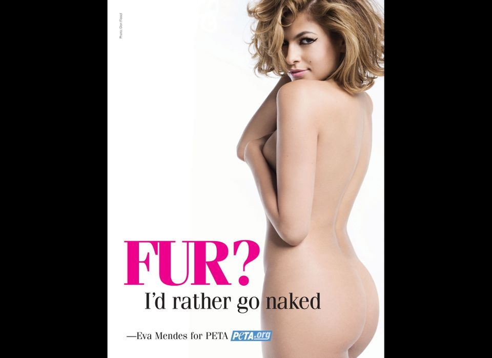 Actress Eva Mendes strips down for PETA's Winter 2007 'I'd Rather Go Naked Than Wear Fur' campaign