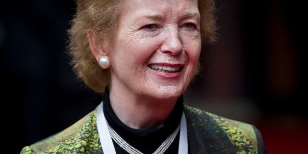 U.N. special envoy for Africa's Great Lakes region Mary Robinson arrives for the Special Summit of the International Conferen