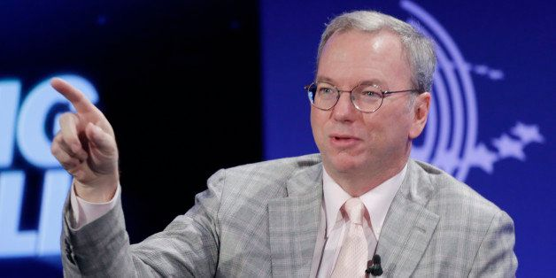 "Eric Schmidt, Chairman of Google, participates in the panel discussion ""The Pulse of Today's Global Economy"" at the Clinton G"