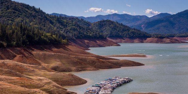 REDDING, CA - SEPTEMBER 27:  With Lake Shasta at 26% capacity, California's largest water reservoir, feeding the Sacramento R