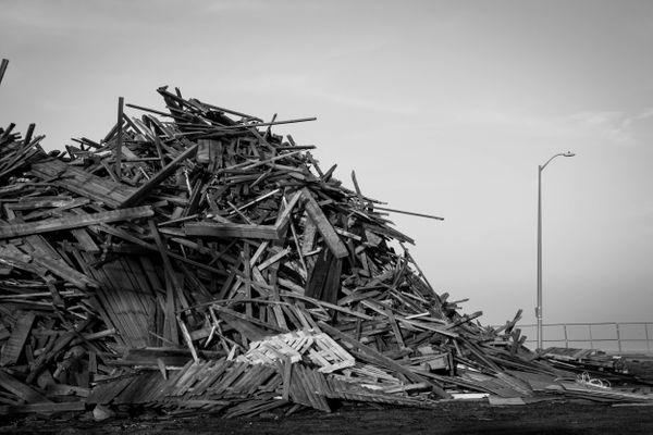 12/3/12: Long Branch, NJ: Wood and Other Debris.