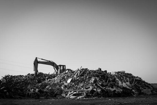 11/22/12: Sea Bright, NJ: Mound of Debris.