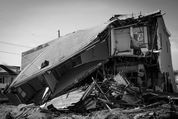 12/3/12: Sea Bright, NJ: A Destroyed Home.