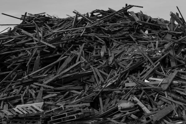 12/3/12: Long Branch, NJ: Discarded Wooden Planks.