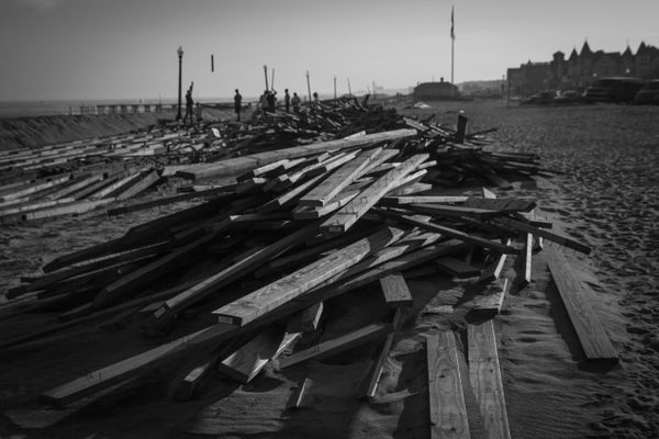 12/3/12: Ocean Grove, NJ: Re-Building the Boardwalk.
