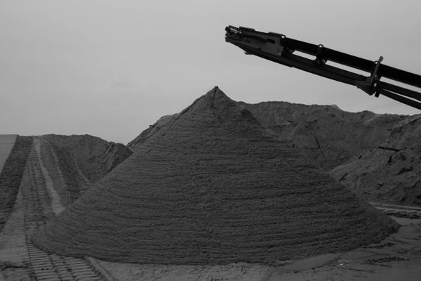 12/9/12: Belmar, NJ: Cone of Sand.
