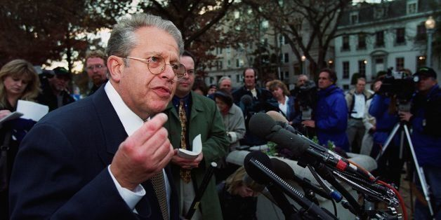 WASHINGTON, :  Laurence Tribe, attorney for Democraticc presidential candidate, Al Gore speaks to reporters outside of the US