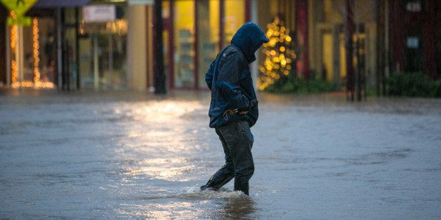 HEALDSBURG, CA - DECEMBER 11:  Eight inches of rain fell on Northern California's Wine Country in a 24-hour period causing wi