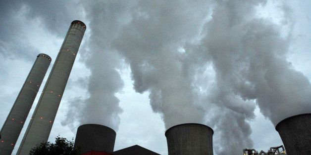 GERMANY - SEPTEMBER 24:  Smoke stacks seen at an RWE coal power station near Bergheim, Germany, Saturday, September 24, 2005.