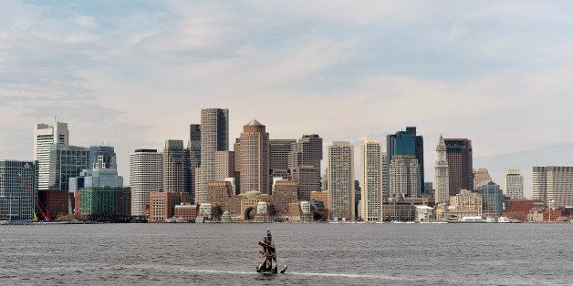 BOSTON, MA - JANUARY 9:  A general view of the Boston skyline on January 9, 2015 in Boston.  Boston has been chosen by the Un