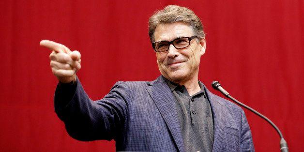 Texas Gov. Rick Perry speaks during a Republican victory party Tuesday, Nov. 4, 2014, in Austin, Texas. (AP Photo/David J. Ph