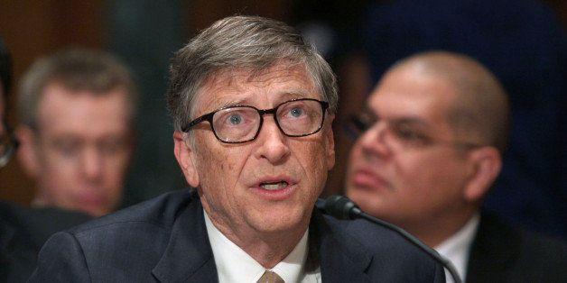 Bill Gates, co-chair of the Bill and Melinda Gates Foundation, testifies on Capitol Hill in Washington, Thursday, March 26, 2