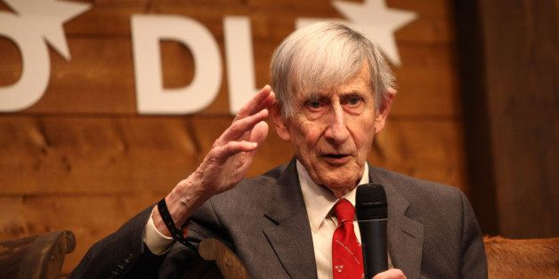 MUNICH, GERMANY - JANUARY 22:  Freeman Dyson speaks during the Digital Life Design conference (DLD) at HVB Forum on January 2