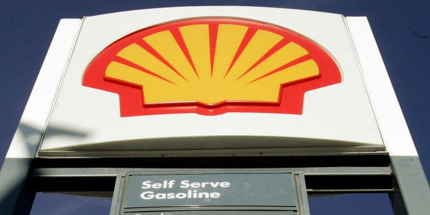 FILE - In this Nov. 14, 2007 file photo, the Shell Oil Co. logo is seen at a Shell gas station in San Mateo, Calif. The U.S.