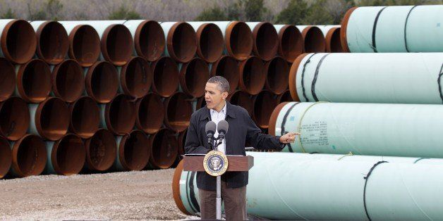 FILE - In this Thursday, March 22, 2012 file photo, President Barack Obama speaks at the TransCanada Pipe Yard in Cushing, Ok