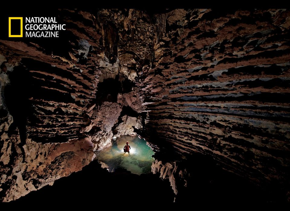 In the dry season, from November to April, a caver can safely explore Hang Ken, with its shallow pools. Come the monsoon, the