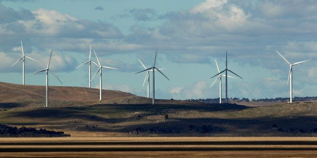 Wind turbines stand at the Capital Wind Farm, operated by Infigen Energy, in Bungendore, New South Wales, Australia, on Frida