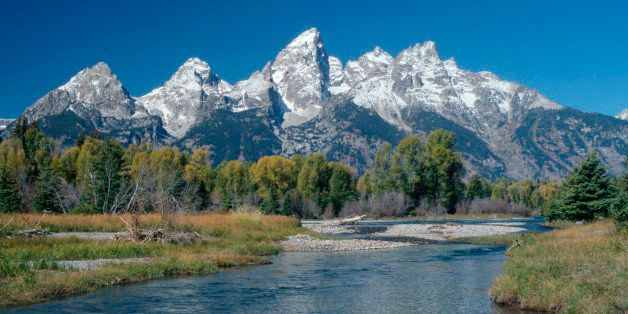 Teton Range and Snake River, national park Grand Teton, Wyoming, USA