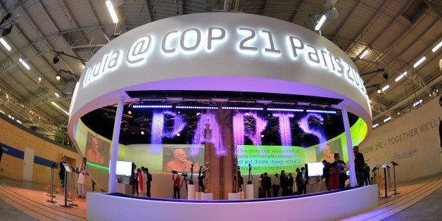 PARIS, FRANCE - DECEMBER 03:  A general view of atmosphere during the COP 21 on December 3, 2015 in Paris, France. The COP21