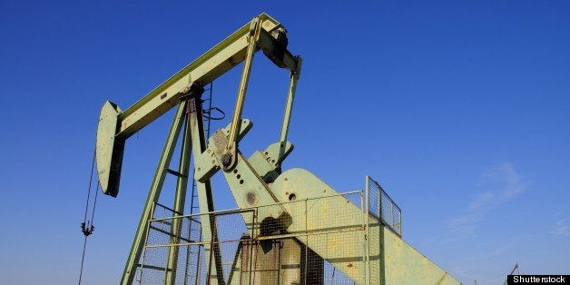 an oil well pumping unit on a...