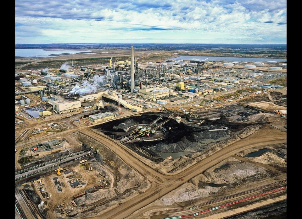 The refining or upgrading of the tarry bitumen which lies under the Tar Sands consumes far more oil and energy than conventio