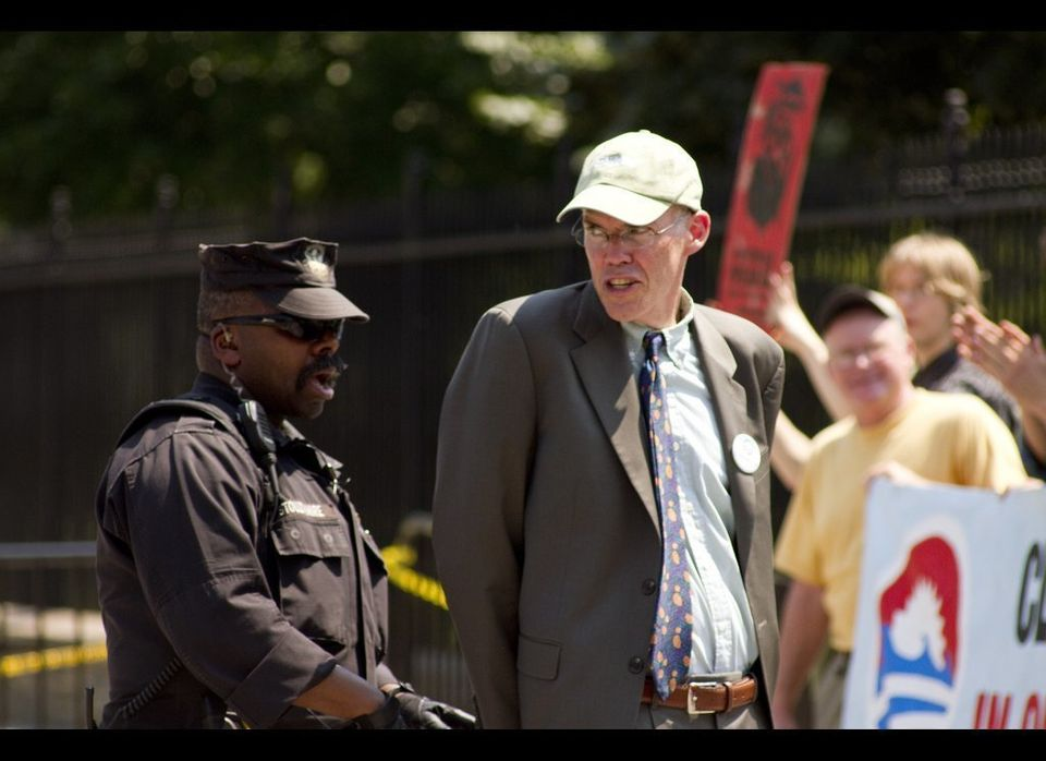 WASHINGTON, DC-- Bill Mckibben, Author and Co-Founder of 350.org, participated in Civil Disobedience on August 20th, 2011. He