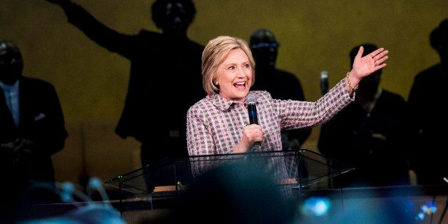 OAKLAND, CA - Democratic Candidate for President former Secretary of State Hillary Clinton speaks to Californians at Greater