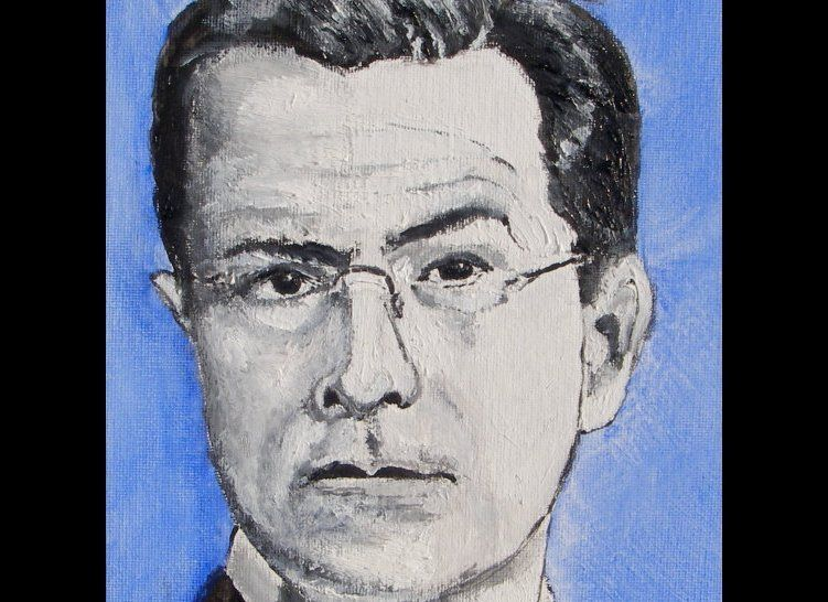 "<a href=""http://www.etsy.com/transaction/58326789"" target=""_hplink"">This painting of comedian Stephen Colbert</a> sold in Sep"