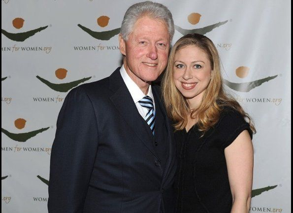 """Former President Bill Clinton received the Champion of Peace Award at the <a href=""""http://www.womenforwomen.org"""" target=""""_hpl"""