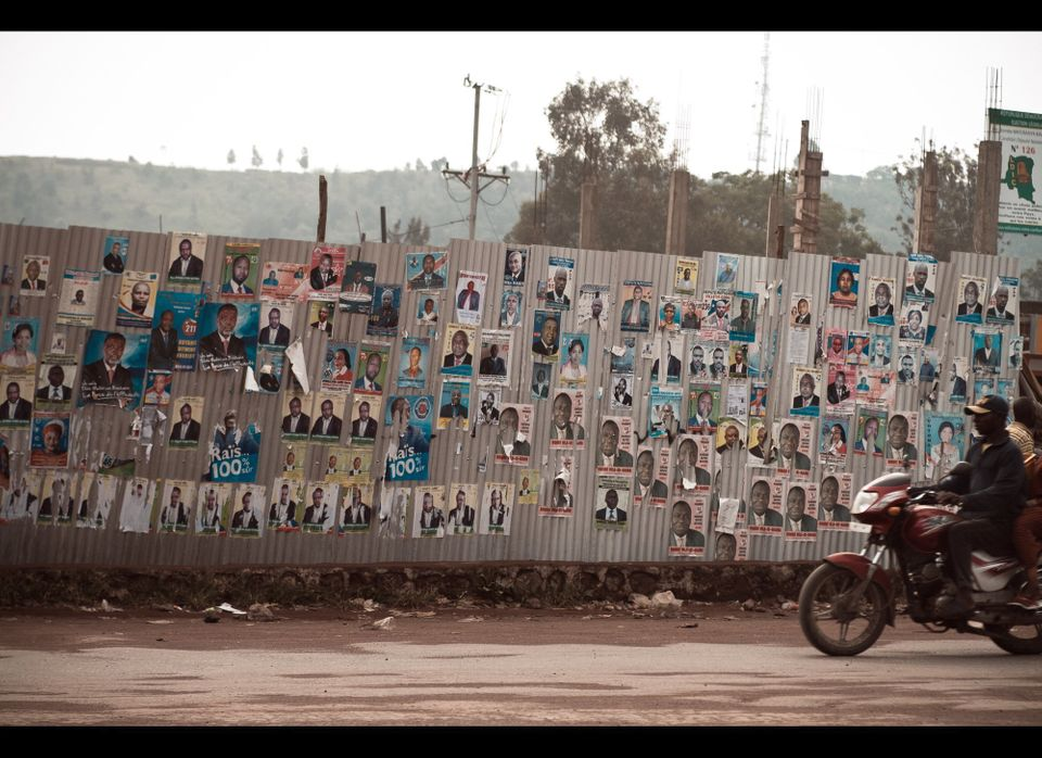 Pre-DRC election campaign posters, Goma. November 26, 2011.