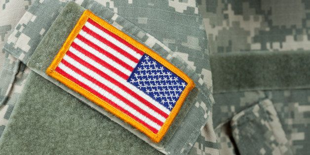 american flag patch on u.s....
