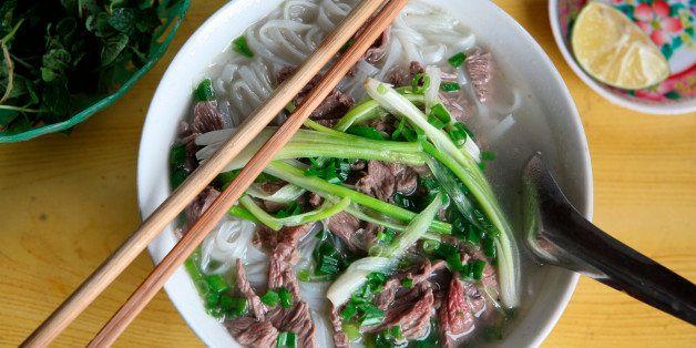 Vietnam, Pho Bo, beef noodle soup